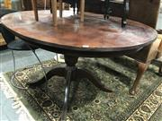 Sale 8805 - Lot 1073 - Timber Extension Dining Table with Two Leaves