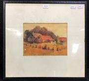 Sale 8958 - Lot 2095 - Alise Mary Parsons Old Cottage, Exeter watercolour, 35 x 75cm (frame), signed under mount -