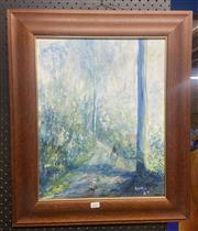 Sale 9065 - Lot 2095 - Gordon Syron Road to Deniliquin, 1989, oil on board, frame: 63 x 63 cm, signed and dated lower right -
