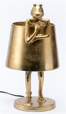 Sale 9245T - Lot 15 - A brass table lamp in the form of a frog, height 46cm