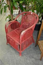 Sale 7987A - Lot 1231 - Red Wicker Chair