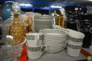 Sale 8214 - Lot 2346 - Japanese Sherbrook Pattern Dinner Setting for 10