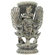 Sale 8273 - Lot 2 - Balinese Carved Timber Krishna on Garuda Figure Group