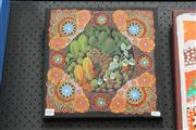 Sale 8288A - Lot 96 - Leonie Young - Bush Food Series 30 x 30cm (framed & ready to hang)
