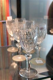 Sale 8379 - Lot 105 - Waterford Crystal Set of 6 Wine Glasses