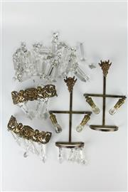 Sale 8403 - Lot 61 - Crystal Wall Sconce Pieces