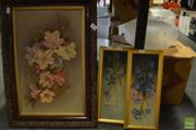 Sale 8458 - Lot 2090 - Trio of Original Floral oil paintings by Various Artists, each signed (various sizes/framed)
