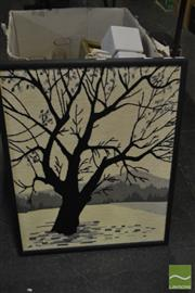 Sale 8544 - Lot 2085 - Hand Stitched Scene Depicting Tree
