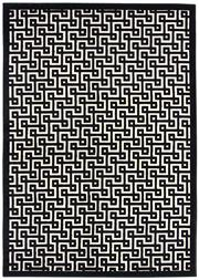 Sale 8651C - Lot 88 - Colorscope Collection; Flatweave Polypropylene Maze - Black Rug, Origin: China, Size: 160 x 230cm, RRP: $499