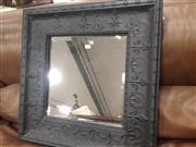 Sale 8740 - Lot 1594 - Bevelled Edge Mirror in Pressed Tin Frame