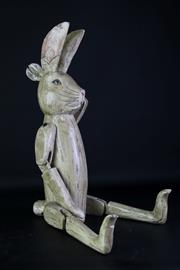 Sale 8963 - Lot 37 - Timber Articulated Hennow Hare (H:69cm)
