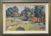 Sale 8162A - Lot 534 - Terence John Santry (1910 - 1990) - A Walk In The Country, Windsor 64 x 99cm
