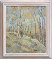 Sale 8325A - Lot 3 - Greg Frawley (1947 - ) - Springwood Bush 52.5 x 44.5cm