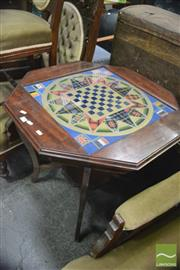 Sale 8338 - Lot 1659 - Mahogany games top occasional table.