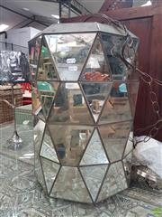 Sale 8593 - Lot 1070 - Mirrored Hanging Light Fitting