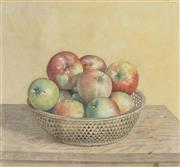 Sale 8764 - Lot 551 - Justin OBrien (1917 - 1996) - Still Life with Apples 27 x 29cm