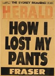 Sale 8822A - Lot 5039 - Sydney Morning Herald October 31, 1986 - HOW I LOST MY PANTS - FRASER 57 x 41cm