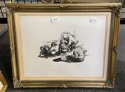 Sale 9019 - Lot 2072 - S. Setter The Fassickus, 1989 hand printed stone lithograph, ed 2/12, frame: 41 x 33 cm, signed and dated lower right,