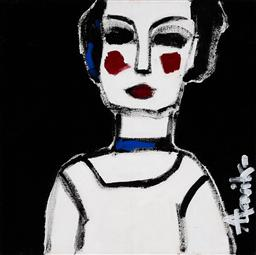 Sale 9187JM - Lot 5085 - LEENE AAVIK (1944 - ) Madam acrylic on canvas 40 x 40 cm signed lower right, titled verso
