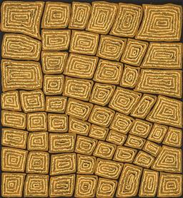 Sale 9221JM - Lot 5039 - THOMAS TJAPALTJARRI (C1964 - ) Tingari acrylic on canvas 96 x 89 cm (stretched and ready to hang) signed verso; certificate of authe...