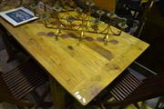 Sale 8134 - Lot 1055 - French Farmhouse Dining Table On Stretcher Base(L-184cm)