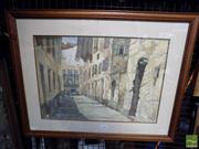 Sale 8407T - Lot 2086 - Philip Sharpe (XX) - European Townscape 34 x 49.5cm