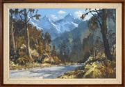 Sale 8434 - Lot 598 - William F. Moore (1934 - ) - New Zealand Highlands 49 x 73.5cm