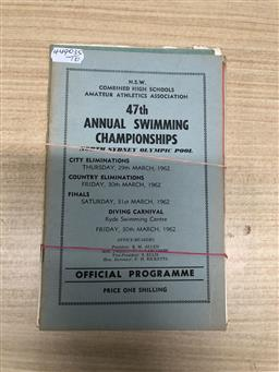 Sale 9152 - Lot 2389 - Collection of Vintage Swimming Programs