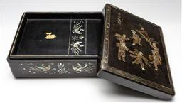 Sale 9211 - Lot 65 - A Mother of Pearl Chinese Inlaid Box (H:13cm W:34cm D:26cm)