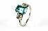 Sale 3808 - Lot 566 - AN AQUAMARINE AND DIAMOND RING;
