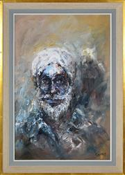 Sale 8363 - Lot 548 - Hugh Sawrey (1919 - 1999) - Tribesman from the Khyber Pass 58.5 x 38.5cm