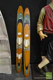 Sale 8520 - Lot 1081 - Pair of Vintage Buccaneer Water Skis