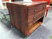 Sale 8566 - Lot 1010 - Rosewood Bedside with Three Drawers