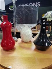 Sale 8669 - Lot 1032 - Two Modern Ceramic Vases & Table Lamp (3)