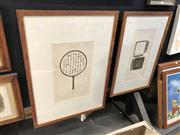 Sale 8845 - Lot 2087 - Thai School (2 works)  Chinese Magnifying Glass and Chinese Print Block etchings, editioned and signed