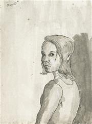 Sale 8907 - Lot 595 - Attributed to Donald Friend (1915 - 1989) - Portrait of a Woman 30 x 21 cm