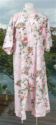 Sale 9044H - Lot 86 - Two Kimonos in floral design one blue the other in pink