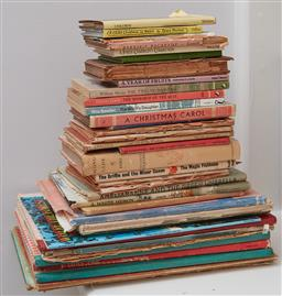 Sale 9108H - Lot 100 - A pyramid of vintage childrens books including Ameliaranne and the Green Umbrella.