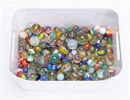 Sale 9185E - Lot 193 - A collection of glass marbles