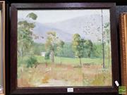 Sale 8478 - Lot 2004 - Dorothy Allen Edwards (1907 - XXI) - Countryscape with Cottage 37 x 45cm
