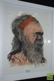 Sale 8509 - Lot 2012 - Greg Lipman (1938 - ), The Warrior, watercolour/ink, 24 x 19cm, signed lower right