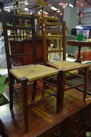 Sale 8566 - Lot 1702 - Pair of Unmatched Chairs