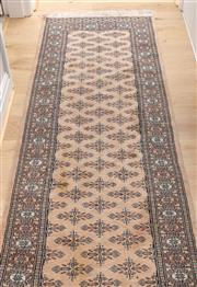 Sale 8644A - Lot 17 - A Bahkrati style runner in nude mute tones, 380 x 80cm.