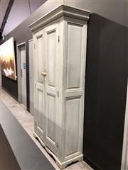 Sale 8697 - Lot 1634 - Rustic Farm House Style Lime-Washed Tall Cabinet