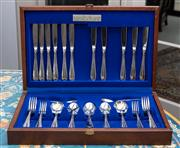 Sale 8782A - Lot 102 - A Wiltshire silver plated cutlery canteen (incomplete)