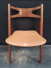 Sale 8872 - Lot 1037 - Hans Wegner Saw Back Chair by Carl Hansen - Stamp to Base