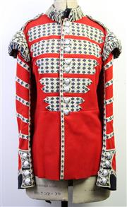 Sale 8997 - Lot 27 - Mid 20th Century British Military Uniform, drummers jacket of the Coldstream Guards, with old mannequin
