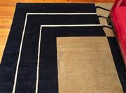 Sale 9020H - Lot 54 - A Cadrys contemporary rug in black and latte geometric design 280x370cm