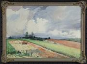 Sale 7923 - Lot 584 - William Bustard - Landscape with Path 27 x 39cm