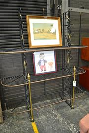 Sale 8013 - Lot 1440 - Large Metal Bakers Stand